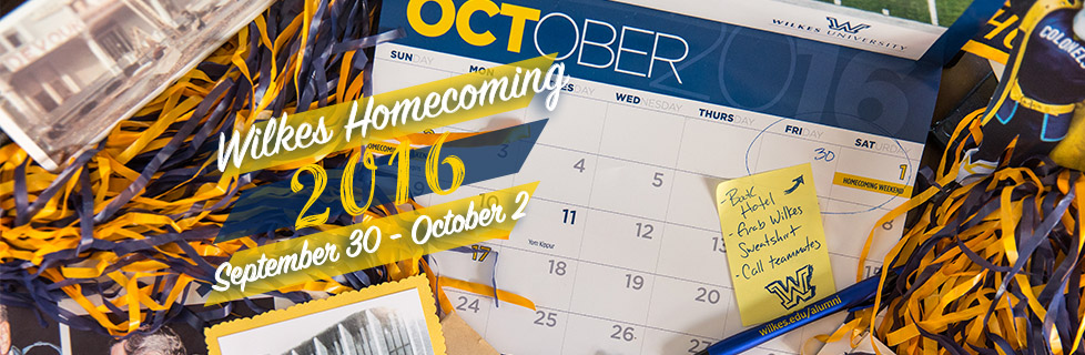 Save the Date for Homecoming 2016!